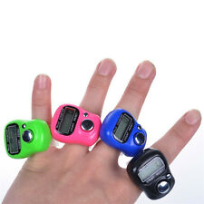 5pcs Mini 5 Digit LCD Electronic Digital Golf Finger Hand Ring Tally Counter