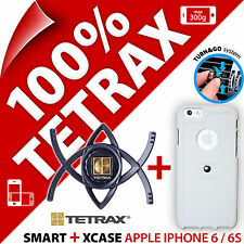 NUOVO Tetrax Bundle per Apple iPhone 6/6s Smart Auto Holder + XCASE Coperchio Bianco