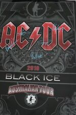 AC/DC BLACK ICE HAND SIGNED COLOUR WALL POSTER