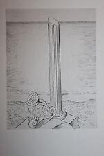 Estampe originale Pointe sèche de André Michel 1945 colonne grèce 33 x 24,5 cm