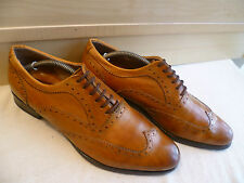 Officine Creative tan leather oxford brogue UK 8 42 handcrafted wingtip lace-up