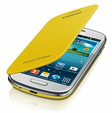 Genuine Samsung GT-I8190N Flip Case Cover for Galaxy S III S3 Mini - Yellow