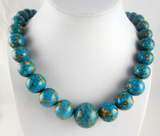 Natural multicolor Turquoise&agate Handmade Gemstone Jewellery Necklace