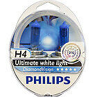 PHILIPS H4 DIAMOND VISION 5000k POWER HEADLIGHT CAR BULBS H4 DIAMOND VISION H4