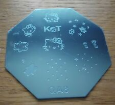 Stamping plates for nail art Hello Kitty designs