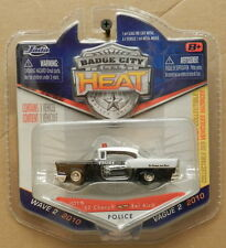 1957 57 CHEVY BEL AIR POLICE CAR BLACK WHITE BADGE CITY HEAT  015 JADA