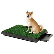 Puppy Potty Trainer Indoor for Pets Dog Training Pee Turf Grass Pad Mat LKR8