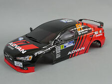 1/10 RC Car BODY Shell MITSUBISHI EVOLUTION Lancer Evo 190mm FINISHED RALLY ART