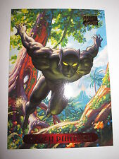 CARTE MARVEL MASTERPIECES GOLD FOIL SERIES 1994 N 8 BLACK PANTHER MINT CARD BASE