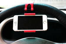 Car Steering Wheel Phone Mount Clip Holder Cradle Stand Bracket Socket for HTC