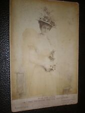 Old Cabinet Photograph actor Fay Davis in The Princess and The Butterfly c1890s