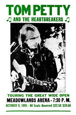 Tom Petty & the Heartbreakers Concert Poster, Meadowlands Arena 1991, New Jersey