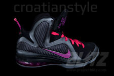 NIKE LEBRON 9 MIAMI NIGHTS Sz 8 COOL GREY VIVID GRAPE BLACK CHERRY 469764-002