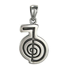 Sterling Silver Cho Ka Rei Power Symbol Reiki Pendant Energy Attunement Jewelry