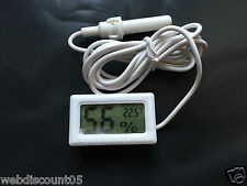 Mini LCD Digital Incubator Egg Hatching Sensor Humidity Hygrometer  Meter UK