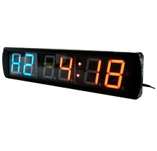 4'' Large LED Countdown Wall Clock Crossfit Timer GYM Workout Tabata Stopwatches