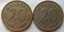 Parliament Series 20 sen coin 1968 2 pcs