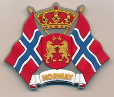 Refrigerator rubber magnet with Crown of Lion & Norwegian Flag