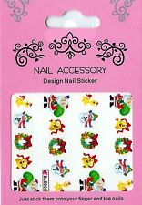 Christmas, Water Nail Sticker Tatoo, Weihnachten , W6