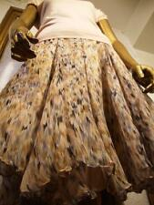 BURBERRY  SKIRT S 40 6 *  Sprint Easter Floral Chiffon Silk Lined *Made in Italy
