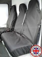 Ford Transit Crew Cab 00-06 HEAVY DUTY BLACK WATERPROOF VAN SEAT COVERS 2+1