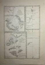 1787 MAP MACAU TAIPA AVACHA BAY JAPAN Rigobert Bonne Cook 3 voyage acquaforte