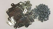 "100 x 0/0"" FLAT Picture Frame Offset Clips With Screws for Canvas, Mirrors, etc"