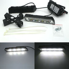 2x White 8 SMD 5050 LED Daytime Running Light Car Day Driving Fog DRL Lamp Kit