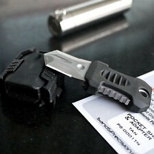 EDC Tactical Gear Mini Pocket Knife Blade Webbing Buckle Camping Survival Tool