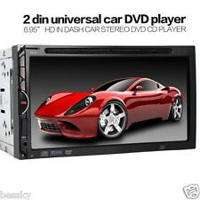 "2DIN 7""HD Car Bluetooth Touchscreen CD DVD Player Stereo MP3 AUX FM Radio USB SD"