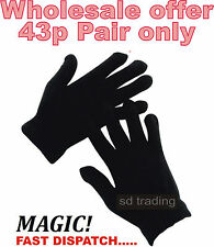30 Pairs Black Magic Gloves Unisex Men Ladies Winter one size Wholesale Job lot