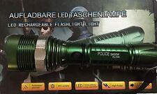 Torcia Tattica D'assalto CREE LED Q5 Lumen 38000W Antipioggia Zoom Ricaricabil