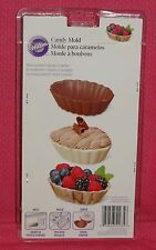 Dessert Shells Chocolate Candy Mold,Wilton,Clear Plastic,2115-1035