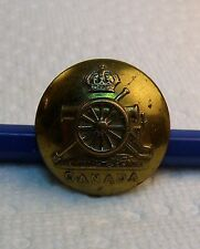 CANADIAN-MILITARY-UNIFORM-BUTTON 1900 - ERII -ERA- CANADIAN ARTILLERY