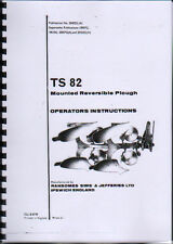 "Ransomes ""TS 82"" Reversible Plough Instruction and Illustrated Parts Book"