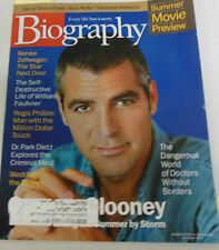 Biography Magazine George Clooney & Renee Zellweger June 2000 071714R