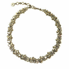 New BEN AMUN Silver Faceted Swarovski Crystal Clusters Link Necklace Choker