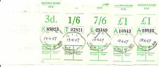PARCELS WAY BILL 3D 1/6 7/6 £1 X2 C.I.E CARRICK ON SUIR 19 4 67 DATESTAMPS 2 9/3
