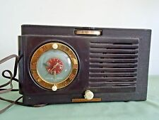 Old General Electric Model 500 Radio Alarm Clock Tube Radio (Bakelite Case)