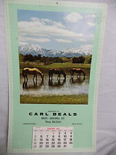 CARL BEALS Meats Groceries Calendar 1975 Lawrencetown NS Nova Scotia Horse Photo