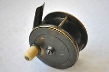 "A SUPER C FARLOW & CO LTD LONDON 2 1/4"" BRASS PLATE WIND TROUT REEL"