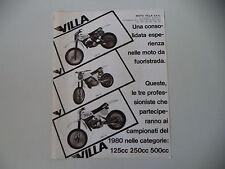 advertising Pubblicità 1980 MOTO VILLA MX 125 A/250/MX 410