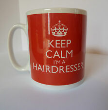 Brand New Keep Calm I'm A Hairdresser Mug In Carry On Style Gift Mug Retro