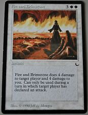 Fire and Brimstone from Magic the Gathering MTG The Dark
