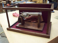 Pistol Display Case - Wood & Glass- American Walnut - Case only - Stand is Extra