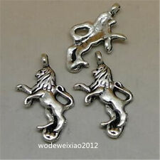 10pc Tibetan Silver Lion Animal Pendant Charms Beads Jewellery Making JP1091