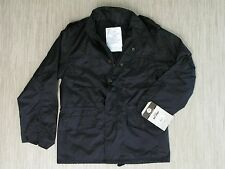 Rothco Field Jacket Men's Size Small Black M-65 Nylon Rain Coat Combat Tested