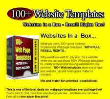 100+ Website Templates... Resale Rights.... BONUSES...cd