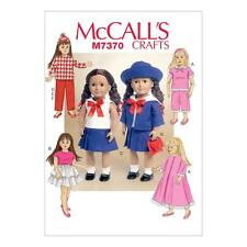 "McCALL'S SEWING PATTERN CRAFTS 18"" REETROL DOLL CLOTHES PJ'S ROBE DRESS M7370"