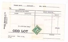 Stock Ticket-Baker,Simonds-Detr oit-35 Shares Aviation Corp 1946-Us Tax Stamps